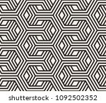 seamless pattern with geometric ... | Shutterstock .eps vector #1092502352