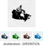 map of canada | Shutterstock .eps vector #1092507176