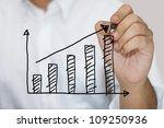 man in white shirt sketching...   Shutterstock . vector #109250936