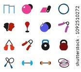 solid vector ixon set   barbell ... | Shutterstock .eps vector #1092510272