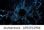 3d render abstract background.... | Shutterstock . vector #1092512906