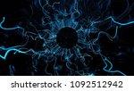 3d render abstract background.... | Shutterstock . vector #1092512942