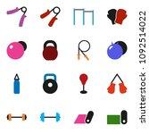 solid vector ixon set   barbell ... | Shutterstock .eps vector #1092514022