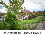 landscape design near the house | Shutterstock . vector #1092515216