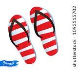 top view vector summertime... | Shutterstock .eps vector #1092515702