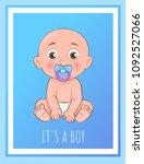 its a boy poster newborn...   Shutterstock .eps vector #1092527066