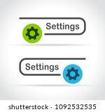 illustration of settings web... | Shutterstock .eps vector #1092532535