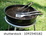 cutlery for sausages barbecue... | Shutterstock . vector #1092540182