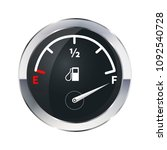 full tank of fuel  glossy... | Shutterstock . vector #1092540728