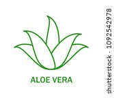 aloe vera icon isolated on... | Shutterstock .eps vector #1092542978