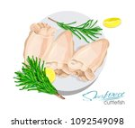 illustration of a dish of... | Shutterstock .eps vector #1092549098