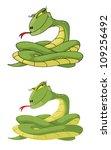 illustration of a girl snake set | Shutterstock . vector #109256492