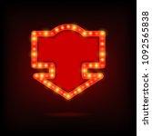 shining retro sign. vector... | Shutterstock .eps vector #1092565838