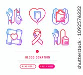 blood donation  charity  mutual ... | Shutterstock .eps vector #1092576332