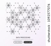 data processing concept in... | Shutterstock .eps vector #1092577076