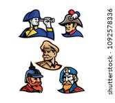 mascot icon illustration set of ... | Shutterstock .eps vector #1092578336