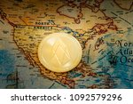 digital currency concept  ...   Shutterstock . vector #1092579296