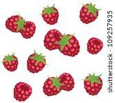 berries vector seamless... | Shutterstock .eps vector #109257935