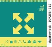 extend  resize icon. cross...   Shutterstock .eps vector #1092584312