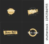 vector set of emblems  badges... | Shutterstock .eps vector #1092586955