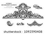 vintage architectural... | Shutterstock .eps vector #1092590408