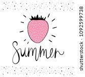strawberry. vector illustration ... | Shutterstock .eps vector #1092599738