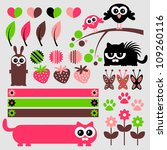 cute scrapbook elements set | Shutterstock .eps vector #109260116