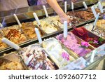 variety of delicious ice cream... | Shutterstock . vector #1092607712
