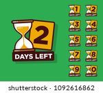 days left with sand timer... | Shutterstock .eps vector #1092616862