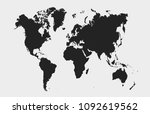 world map vector | Shutterstock .eps vector #1092619562