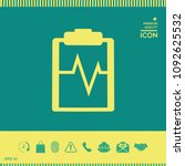 electrocardiogram icon symbol   Shutterstock .eps vector #1092625532