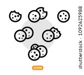 Browser Cookie Icon Set. Vecto...