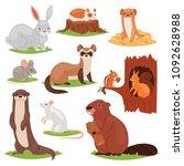 Forest Animals Vector Cartoon...