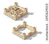 vector isometric medieval... | Shutterstock .eps vector #1092629015