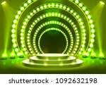 stage podium with lighting ... | Shutterstock .eps vector #1092632198