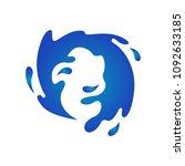 water splash vector | Shutterstock .eps vector #1092633185