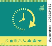 passage of time icon | Shutterstock .eps vector #1092634952