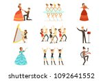 classic theater and artistic... | Shutterstock .eps vector #1092641552