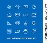 modern  simple vector icon set...   Shutterstock .eps vector #1092647495