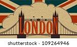 london landmark  tower bridge... | Shutterstock .eps vector #109264946