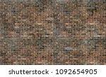 old grunge brown brick wall... | Shutterstock . vector #1092654905