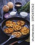homemade traditional potato... | Shutterstock . vector #1092655262