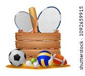 sport background illustration | Shutterstock . vector #1092659915
