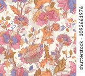 gentle seamless pattern with... | Shutterstock .eps vector #1092661976