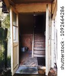 entrance in old house in sochi | Shutterstock . vector #1092664286