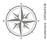 vector icon with compass rose... | Shutterstock .eps vector #1092665138