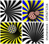 spiral vortex set vector.... | Shutterstock .eps vector #1092671216