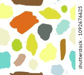 turquoise  green  yellow pastel ... | Shutterstock .eps vector #1092676625