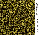 embroidered seamless pattern.... | Shutterstock .eps vector #1092677165