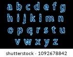 zap blue light english alphabet ... | Shutterstock . vector #1092678842